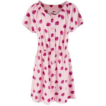 Big Girls Strawberry-Print Peasant Dress, Created for Macy's