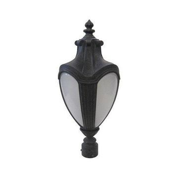 Kalco Lighting 1-Light Exterior Outdoor Post Lantern, Antique Black