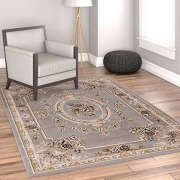 Well Woven Timeless Le Petit Palais Traditional Grey Area Rug