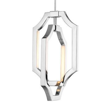 Feiss Audrie Polished Nickel Modern/Contemporary Geometric LED Mini Pendant Light