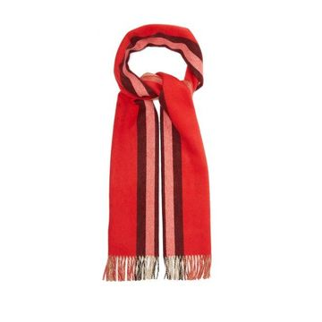 Burberry - Reversible Icon-striped Cashmere Scarf - Womens - Red