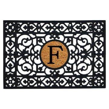 Home & More Rubber Monogram Doormat - 24 x 36 in.