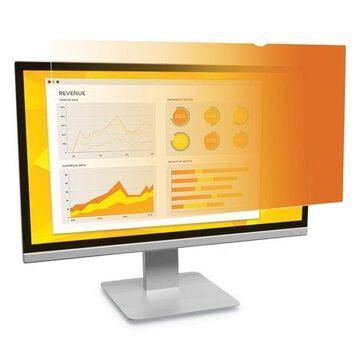 3M, MMMGF238W9B, Gold Privacy Filter for 23.8 in Monitors 16:9 GF238W9B, Gold,Glossy Black