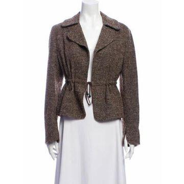Wool Tweed Pattern Evening Jacket Wool