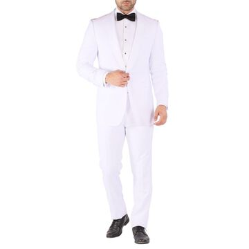 Ferrecci Reno All White Slim Fit 2pc Shawl Tuxedo