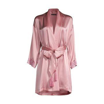 Natori Ava Belted Silk Robe