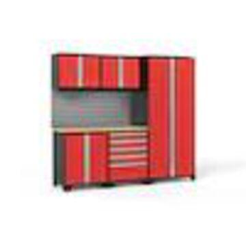 NewAge Products Pro 3.0 92.0 W x 85.25 H Deep Red Steel Garage Storage System