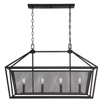 Vernon 4-Light Trestle Chandelier, English Bronze