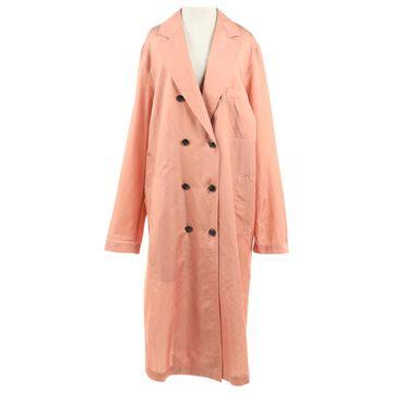 Dries Van Noten Pink Cotton Coats