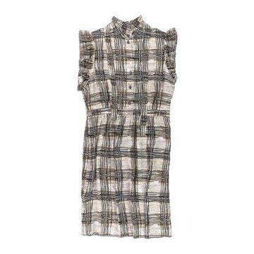 Anne Klein Womens Plaid Print Sheath Dress