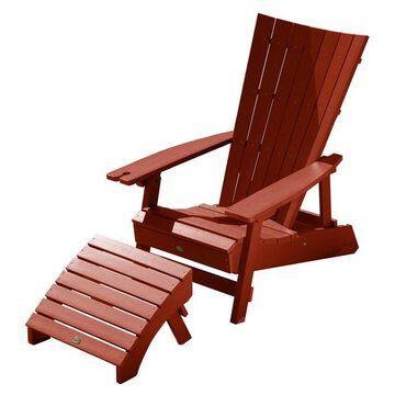 Highwood Manhattan Beach Adirondack Chair with Folding Ottoman