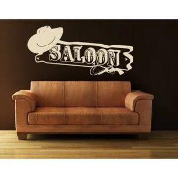 Saloon Wall Decal Vinyl Art Home Decor