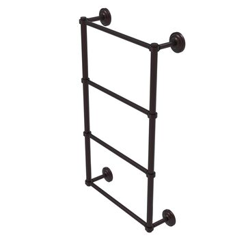 QN-28G-24-ABZ Que New Collection 4 Tier 24 in. Ladder Towel Bar with Groovy Detail, Antique Bronze