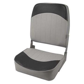 Wise 8WD781PLS-664 Standard High Back Boat Seat, Grey/Charcoal