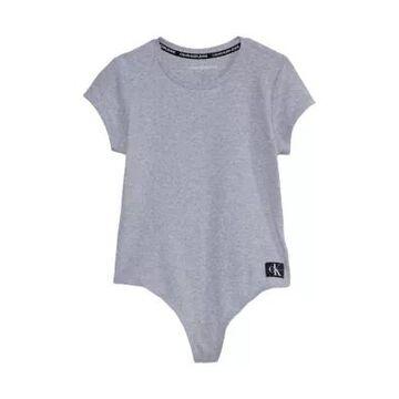 Calvin Klein Jeans Women's Short Sleeve Crew Neck Bodysuit - -