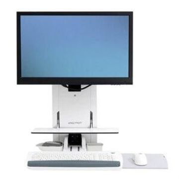 Ergotron StyleView Sit-Stand EMR Vertical Lift, Patient Room (white)