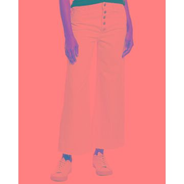 Dl1961 Premium Denim Hepburn Tallic High-Rise Wide Leg Jean