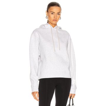 T by Alexander Wang Puff Paint Logo Foundation Terry Hoodie in Light Heather Grey | FWRD