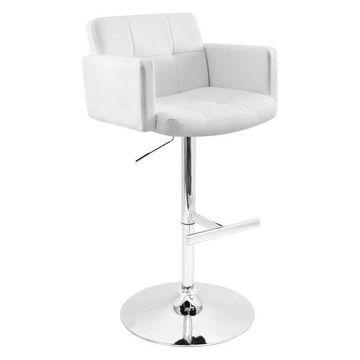 Lumisource Stout Barstool, White