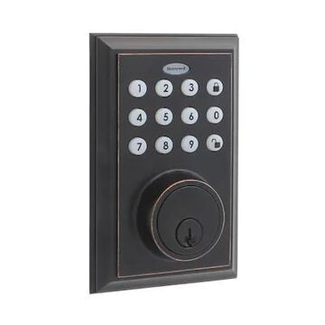 Honeywell 8812409S Smart Door Locks Digital Deadbolt Bluetooth Door Lock, Oil Rubbed Bronze   Quill