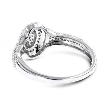 Luxurman Diamond Oval Shaped Ring 14K 0.33ct