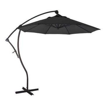 California Umbrella Bayside 9' Offset Crank Olefin Patio Umbrella, Multiple Colors