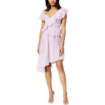 Bardot Womens Asymmetrical One-Shoulder Party Dress