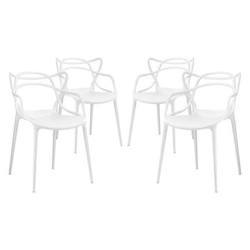 Modway Modway Entangled Dining Armchairs, Set of 4, White