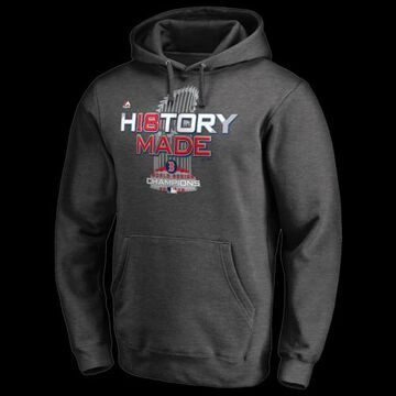 Majestic MLB World Series Hoodie - Boston Red Sox - Dark Grey Heather, Size One Size