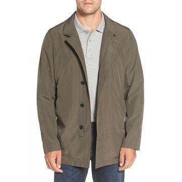 Sanyo Mens Jacket Java Button-Zip Packable Solid Rain