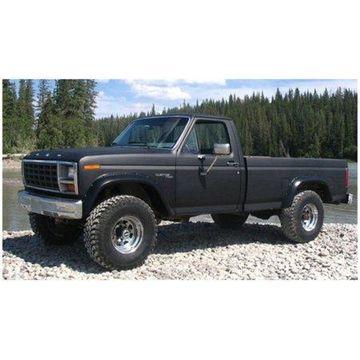 Bushwacker 80-86 Ford Bronco Cutout Style Flares 2pc - Black