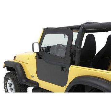 Bestop 51795-15 Jeep Cj7/Wrangler Highrock 4X4 Element Doors Upper Fabric Half-Door Set, Black Diamond