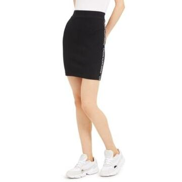 Calvin Klein Jeans Ribbed Graphic Pencil Skirt