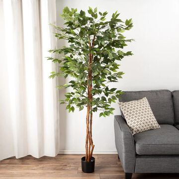 Artificial Ficus Tree by Pure Garden - 31 x 31 x 80