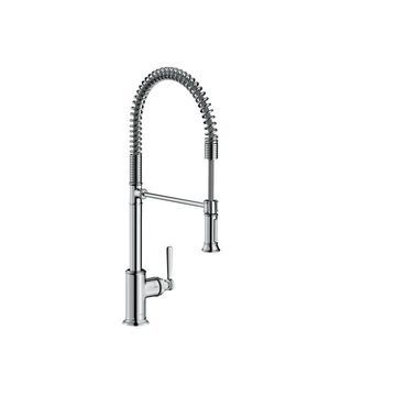 Axor 16582 Montreux Single Handle Semi-Pro Kitchen Faucet with Toggle Spray Diverter - Engineered in Germany