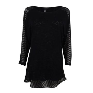 Alfani Women's Mixed-Media Top
