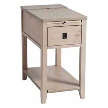 Stein World Patton Chair Side Table, Off-White 13468