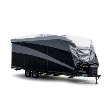 Camco ULTRAGuard Supreme RV Cover-Extremely Durable Design Fits Travel Trailers 15' -18', Weatherproof with UV Protection and Dupont Tyvek Top (56122)