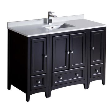 Fresca Bari 48-in Espresso Single Sink Bathroom Vanity with White Quartz Top in Brown