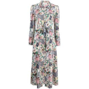 Vanessa floral-print silk dress