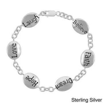 Mondevio Inscripted Inspirational Bracelet (N/A - White)
