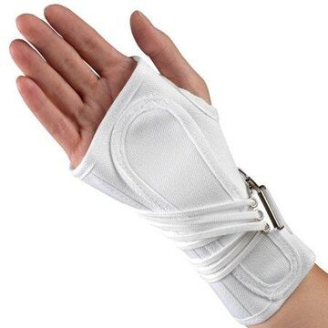 OTC Cock-Up Wrist Splint, Professionals Choice, Right Hand, White, 2X-Small