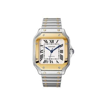 Cartier Men's W2SA0007 'Santos' Two-Tone 18K Gold-Tone and Stainless Steel Watch