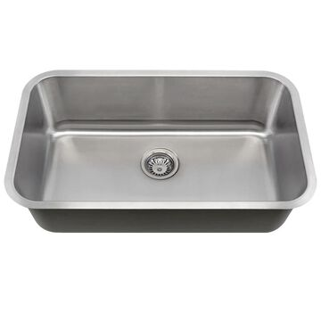 MR Direct 3018 Single Bowl Stainless Steel Sink