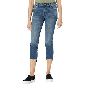 KUT from the Kloth Petite Reese Ankle Straight Leg w/ Raw Step Hem in Glory