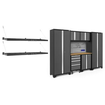 NewAge Products Bold Series 3.0 Grey 9 Piece Cabinet Set with Accessory Kit