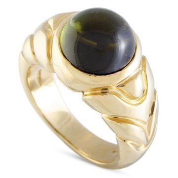 Bvlgari Yellow Gold Tourmaline Ring