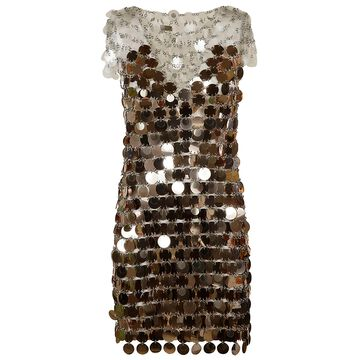 Paco Rabanne Round Metal Link Dress