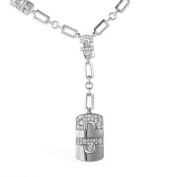 Bvlgari Parentesi White Gold Diamond Pave Pendant Necklace