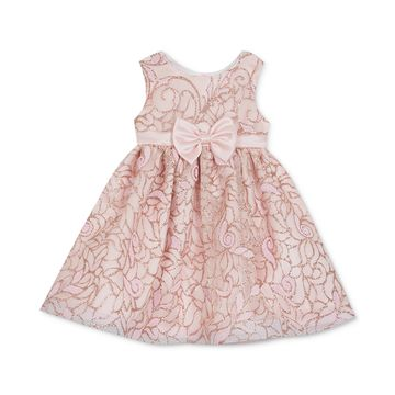 Baby Girls Glitter Fit & Flare Dress